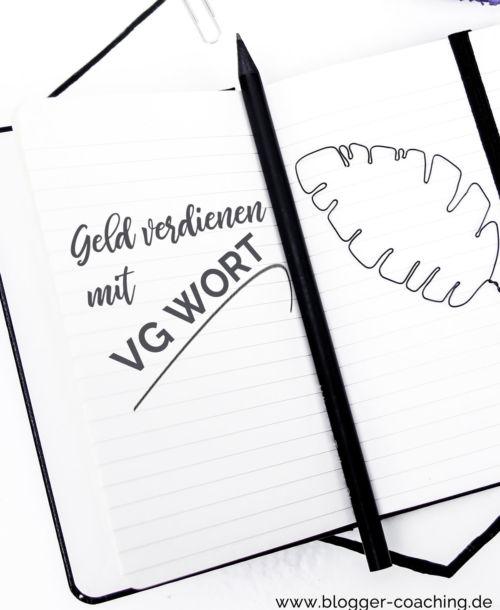 VG Wort – Nebenher Geld verdienen mit dem Blog