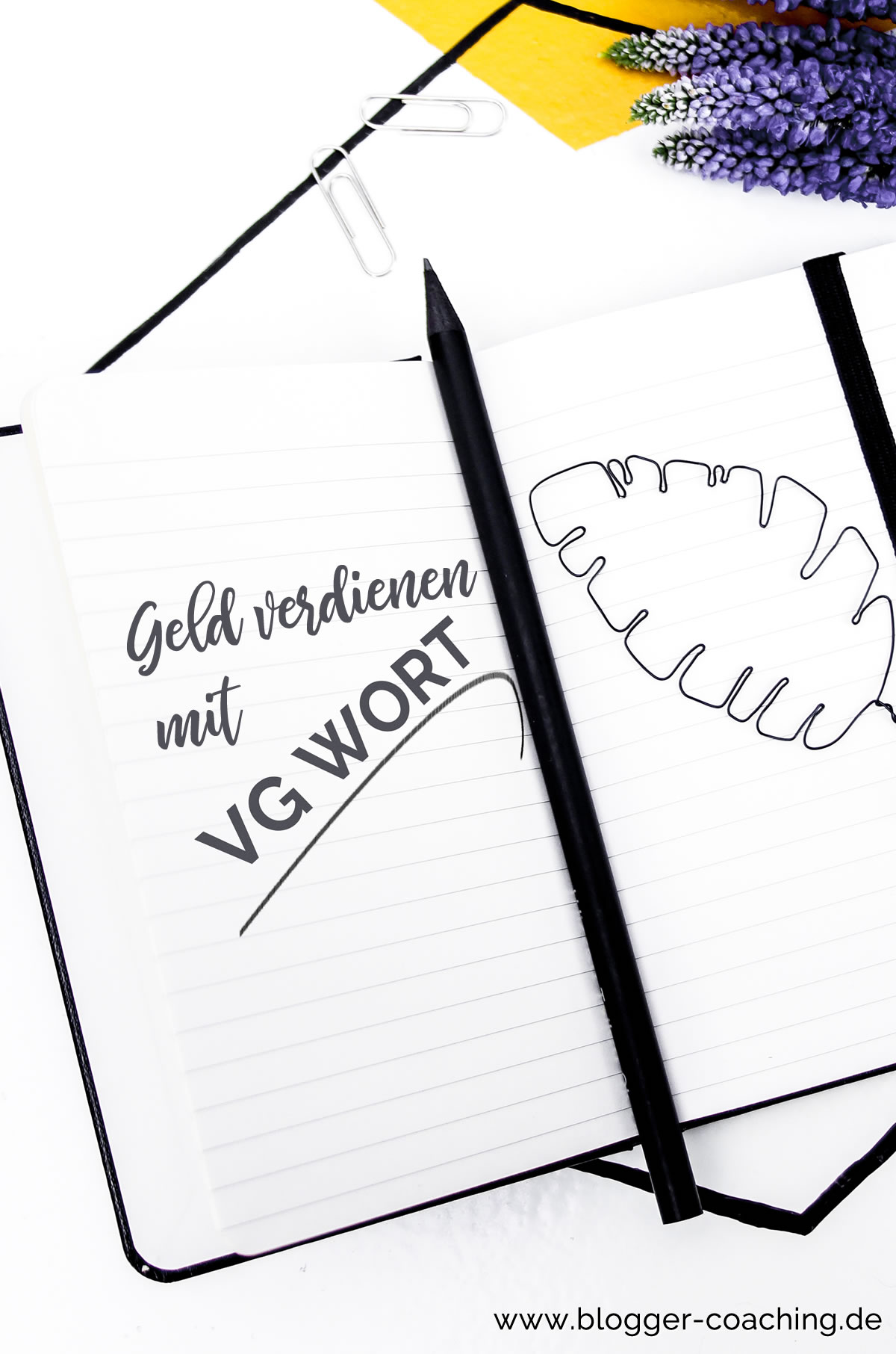 VG Wort - Nebenher Geld verdienen mit dem Blog | Blogger-Coaching.de - Dein Weg zum Blog-Erfolg #blogger #erfolg