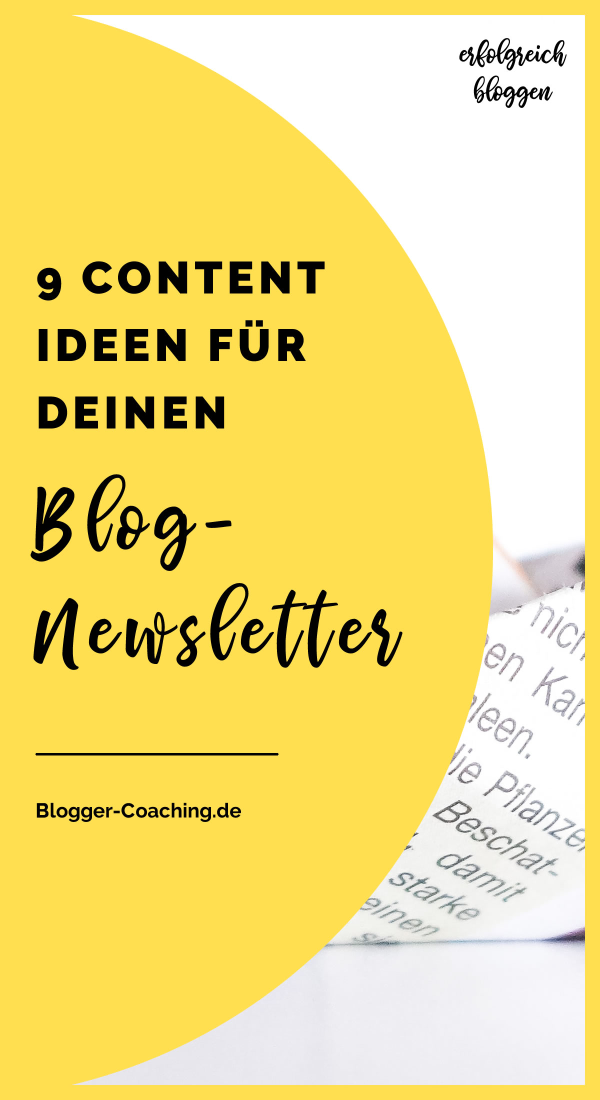 E-Mail-Marketing - Brauche ich einen Newsletter für meinen Blog? | Blogger-Coaching.de - Erfolgsstrategien für deinen Blog #blogger #bloggen #newsletter #marketing #dsgvo