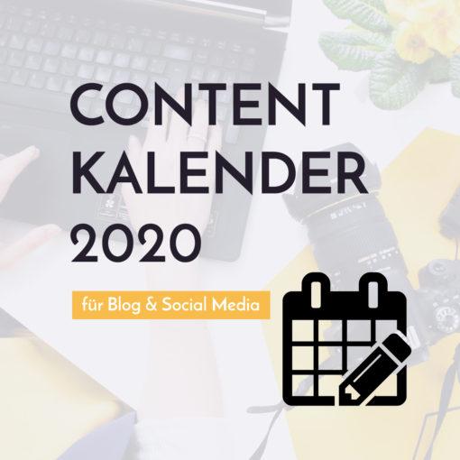 Content Kalender 2020 - Blog & Social Media | Blogger-Coaching.de - Tipps & Kurse für Blogger