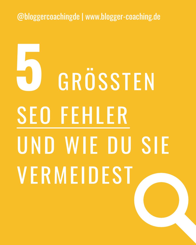 Machst du diese 5 SEO Fehler? Ich verrate dir, wie du sie vermeidest und mit richtiger Suchmaschinenoptimierung dein Ranking nachhaltig verbesserst. 🚀
