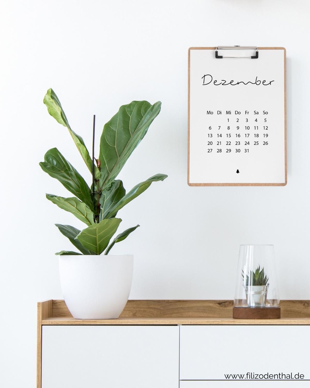 Minimalistischer Kalender 2021 A4 Filiz Odenthal Positionierung Sichtbarkeit