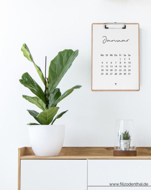 Minimalistischer Kalender 2021 mit Feiertagen (A4) | Filiz Odenthal - Positionierung & Sichtbarkeit
