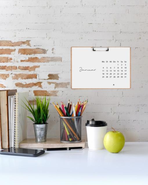 Minimalistischer Tisch-Kalender 2021 (A5) | Filiz Odenthal - Positionierung & Sichtbarkeit