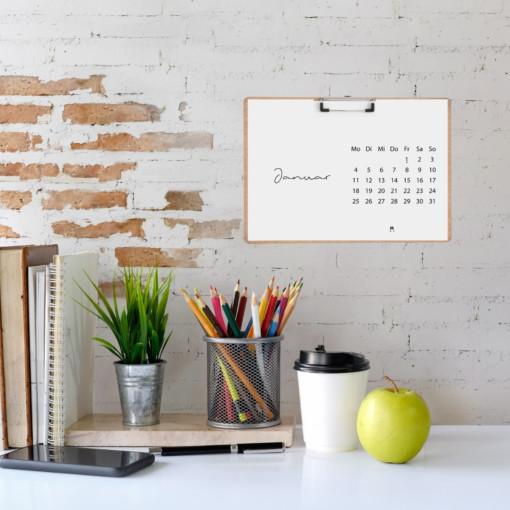 Minimalistischer Tisch-Kalender 2021 mit Feiertagen (A5) | Filiz Odenthal - Positionierung & Sichtbarkeit