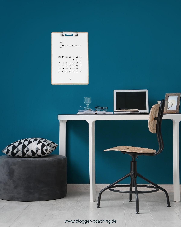 Minimalistischer Kalender 2021 für dein Büro – Druckvorlagen | Blogger-Coaching.de - Tipps & Kurse für Blogger